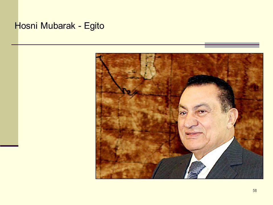 Hosni Mubarak - Egito 58