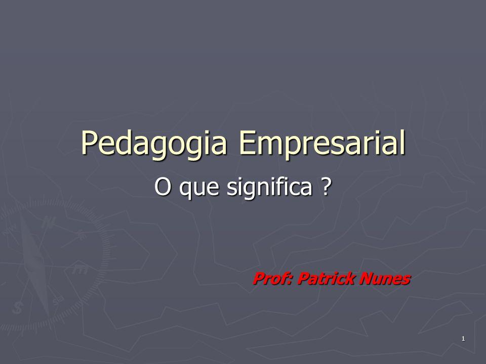 2 Referências Bibliográficas: Pedagogia Empresarial – Saberes, Práticas e Referências – Almeida, Marcus Garcia de – Ed.