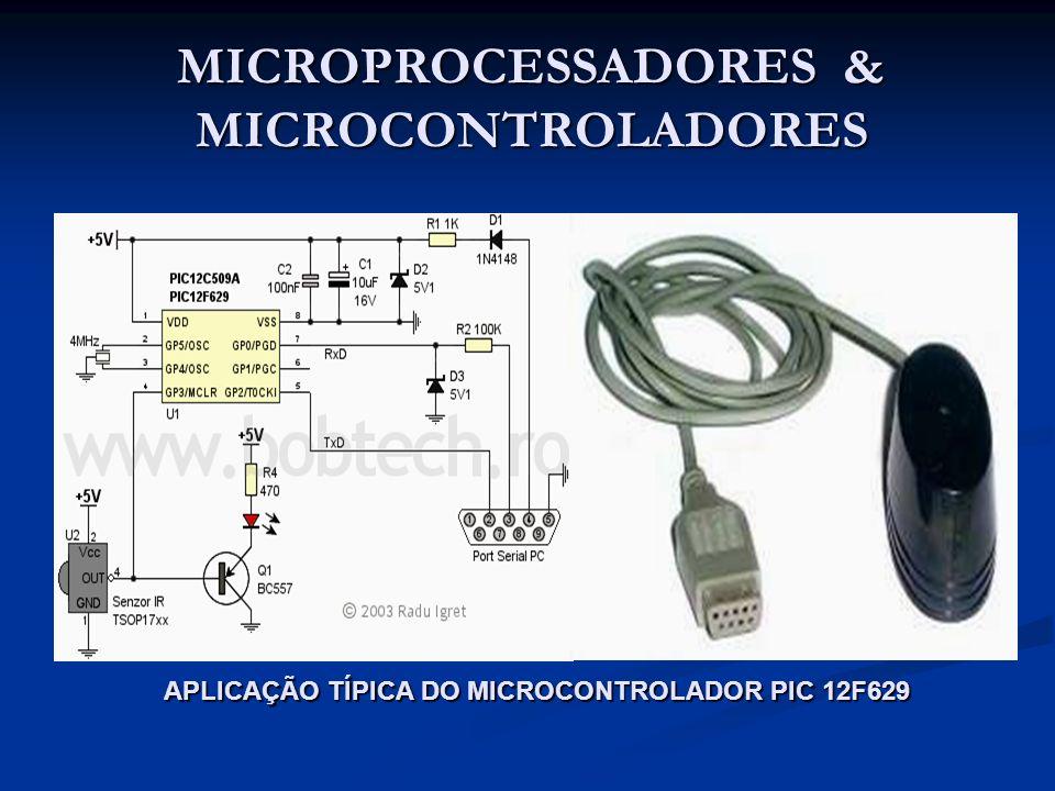 MICROPROCESSADORES & MICROCONTROLADORES APLICAÇÃO TÍPICA DO MICROCONTROLADOR PIC 12F629