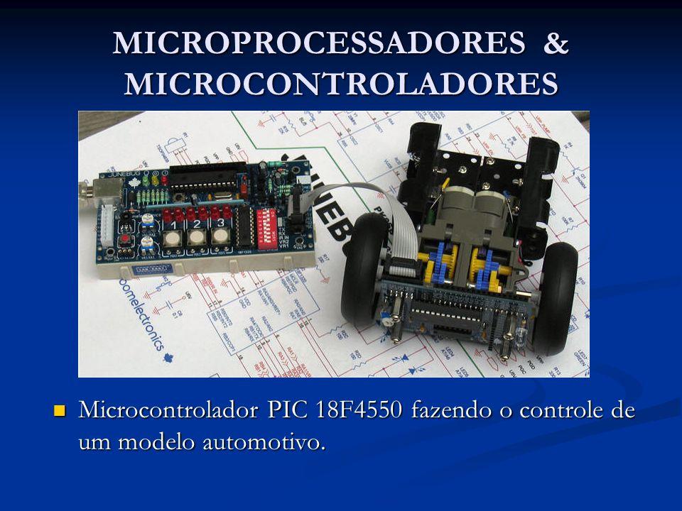 MICROPROCESSADORES & MICROCONTROLADORES Microcontrolador PIC 18F4550 fazendo o controle de um modelo automotivo. Microcontrolador PIC 18F4550 fazendo
