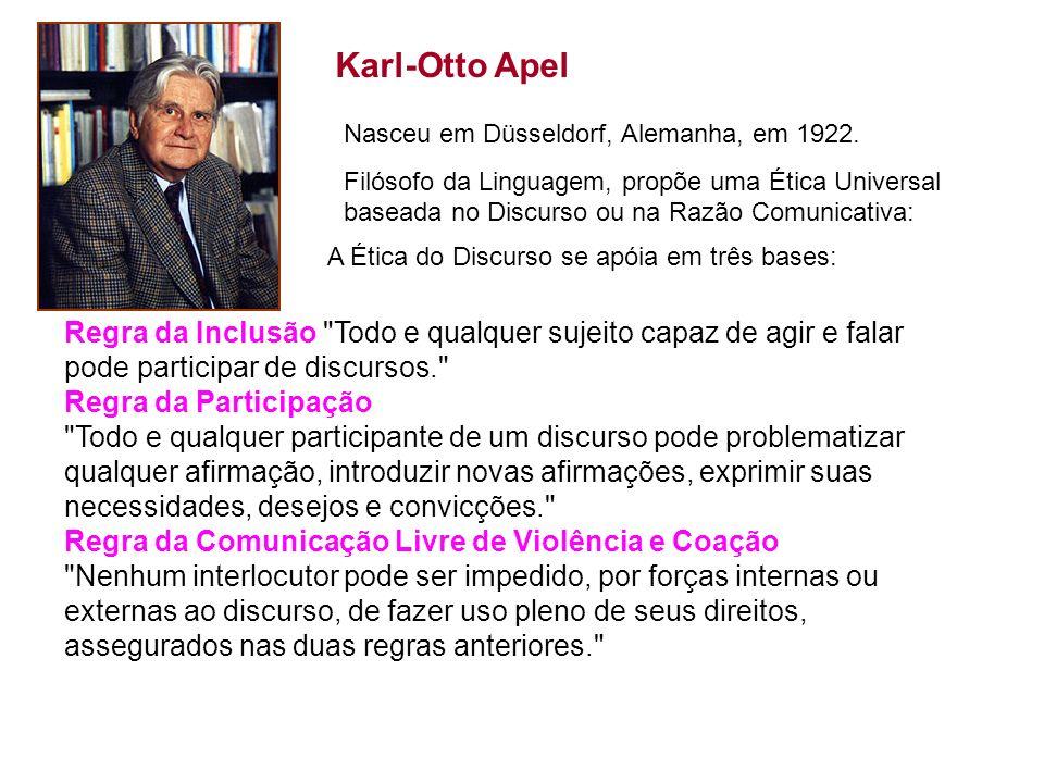 Karl-Otto Apel Regra da Inclusão