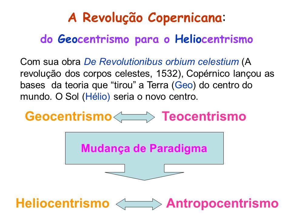 A Revolução Copernicana: do Geocentrismo para o Heliocentrismo Com sua obra De Revolutionibus orbium celestium (A revolução dos corpos celestes, 1532)