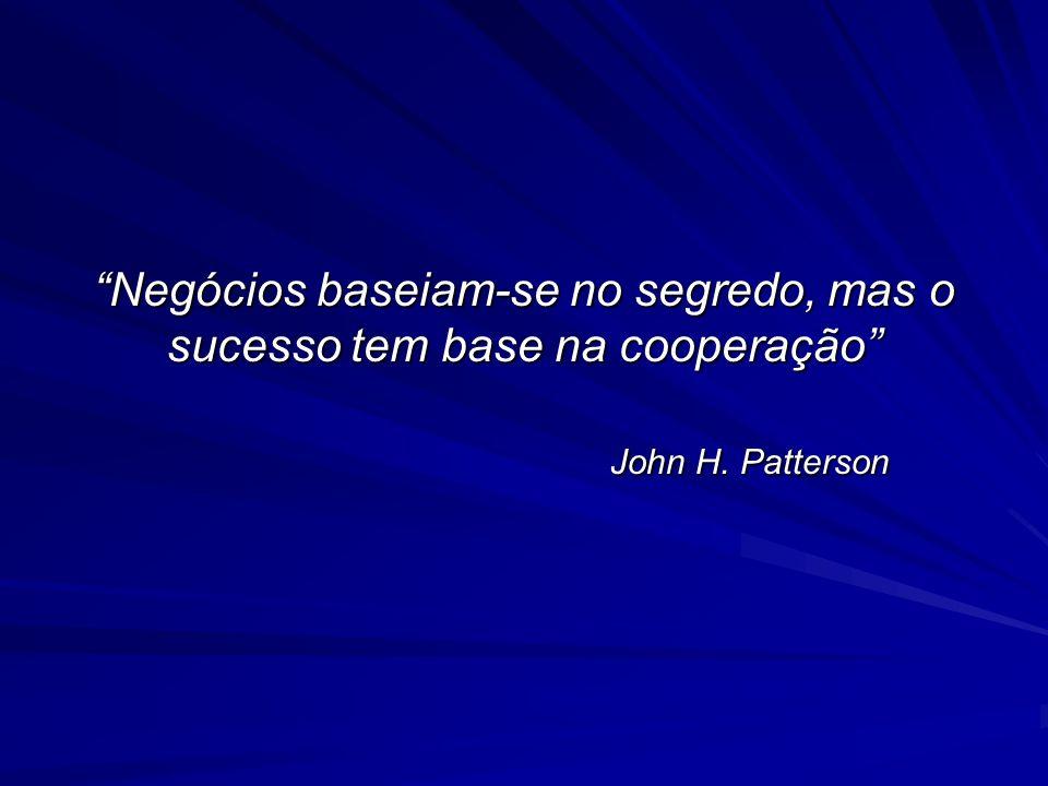 Negócios baseiam-se no segredo, mas o sucesso tem base na cooperação John H. Patterson