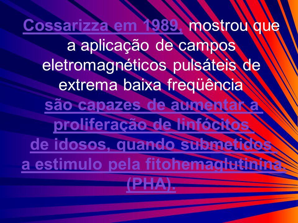 Cossarizza em 1989, mostrou que a aplicação de campos eletromagnéticos pulsáteis de extrema baixa freqüência são capazes de aumentar a proliferação de