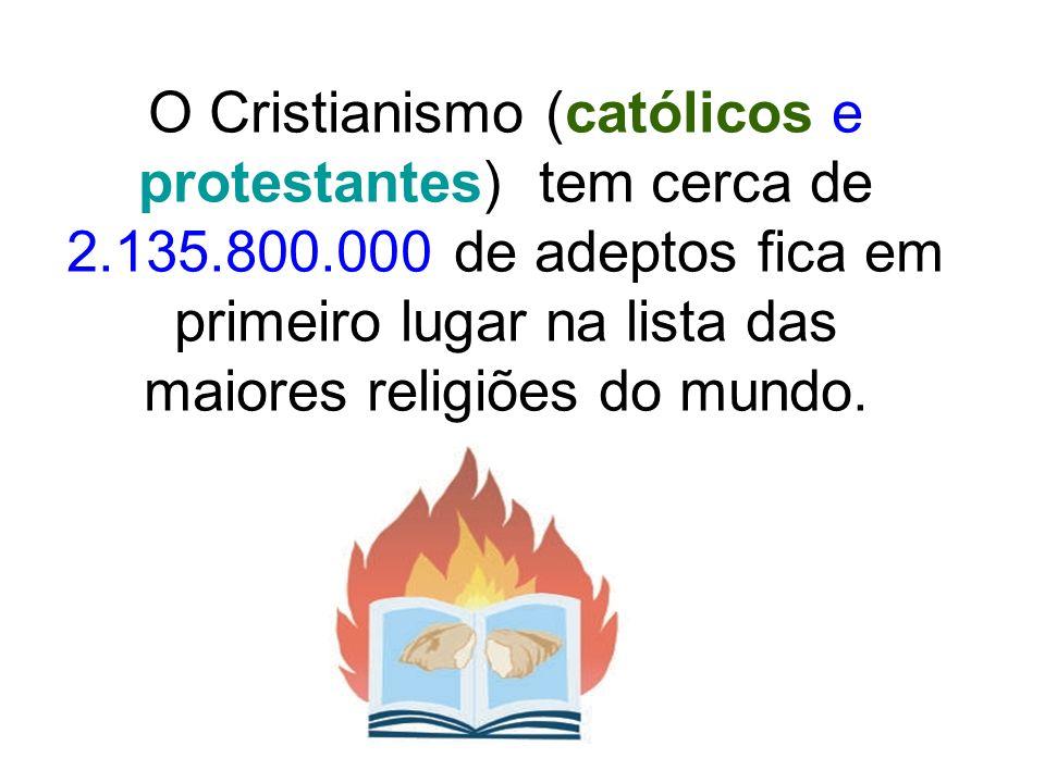 A religião é cristã, mas os cristãos estão em diferentes Igrejas Igreja Católica Apostólica Romana (Oriental e Latina): seguem as orientações do Papa: 1.199.000.000 adeptos Igreja Ortodoxa (ano 1050): seguem as orientações dos Patriarcas: 219.000.000 adeptos
