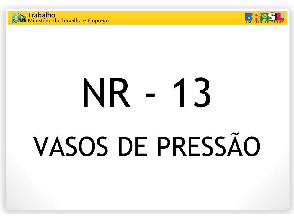 NR - 13 VASOS DE PRESSÃO