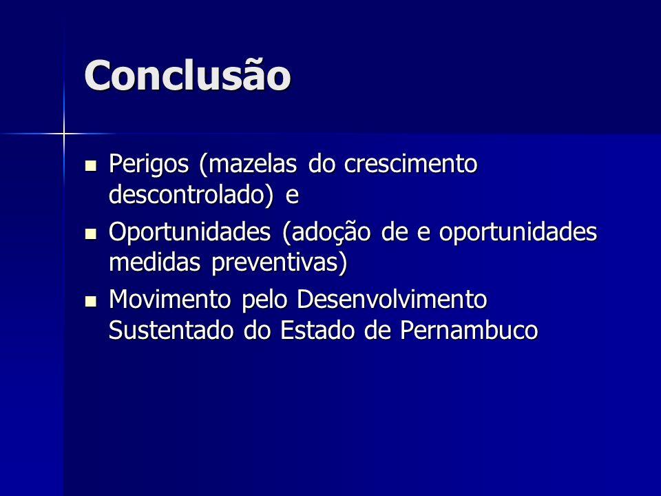 Conclusão Perigos (mazelas do crescimento descontrolado) e Perigos (mazelas do crescimento descontrolado) e Oportunidades (adoção de e oportunidades m
