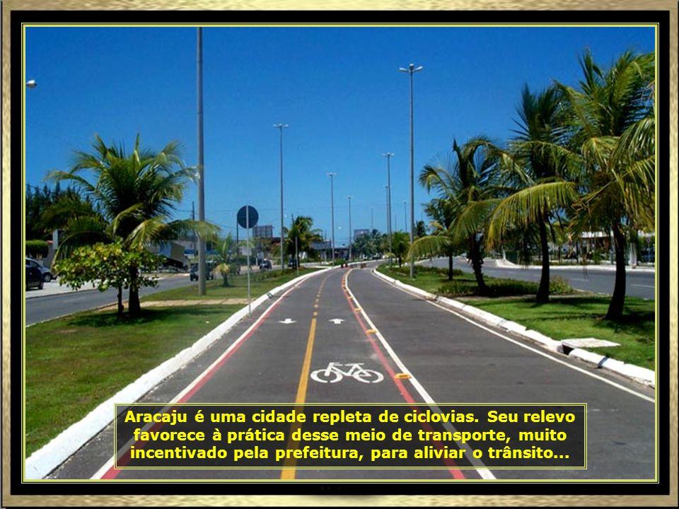 Aracaju é uma cidade repleta de ciclovias.