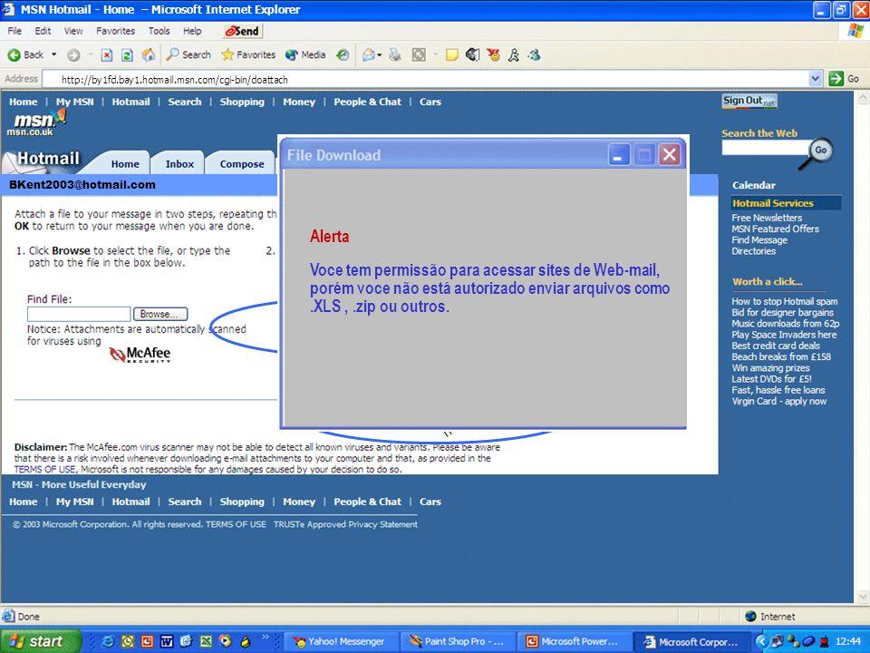 MSN Hotmail - Home – Microsoft Internet Explorer 12:43 Este é um documento muito interessante.