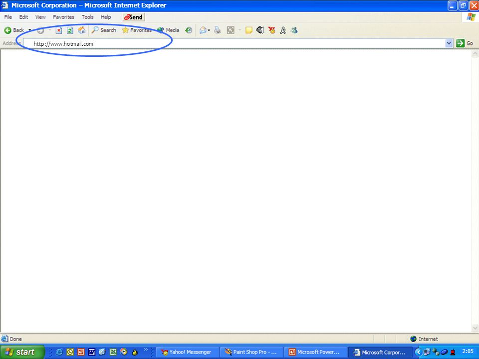 Launch Internet Explorer Browser Finds and displays information and Web sites on the Internet 2:04