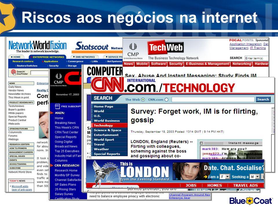 Riscos aos negócios na internet
