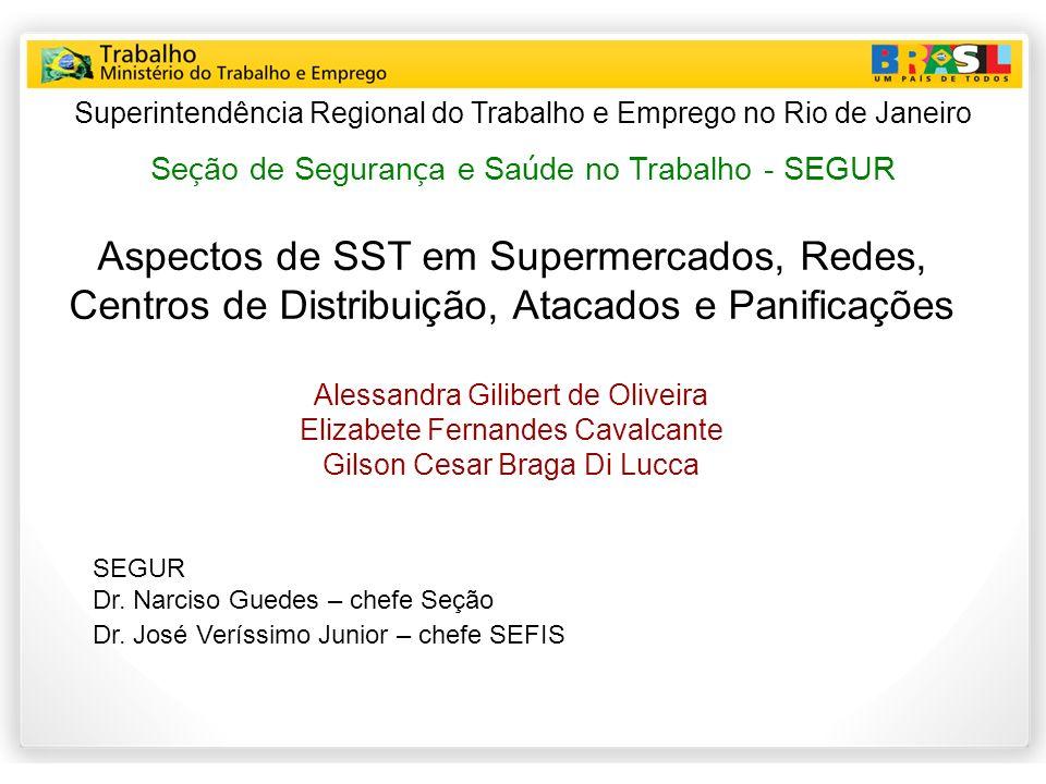 Aspectos de SST em Supermercados, Redes, Centros de Distribuição, Atacados e Panificações Alessandra Gilibert de Oliveira Elizabete Fernandes Cavalcan