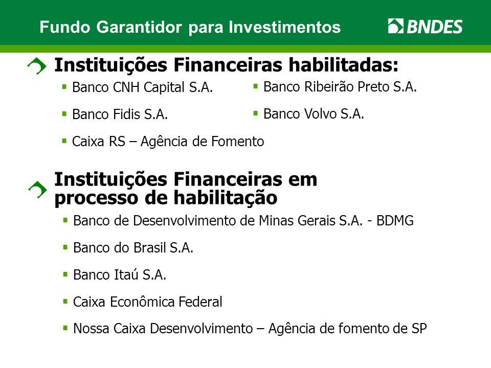 Instituições Financeiras habilitadas: Banco CNH Capital S.A.