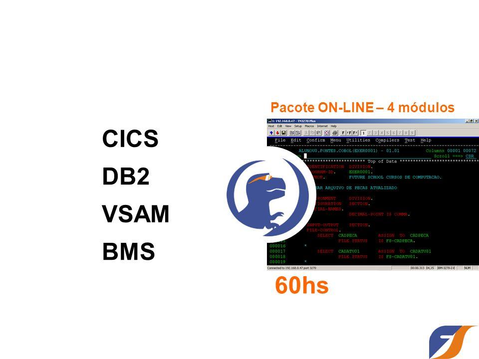 CICS DB2 VSAM BMS Pacote ON-LINE – 4 módulos 60hs