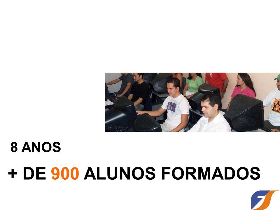 8 ANOS + DE 900 ALUNOS FORMADOS