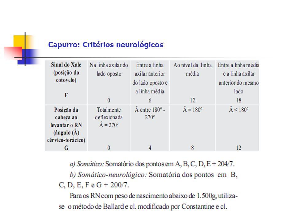 Capurro: Critérios neurológicos