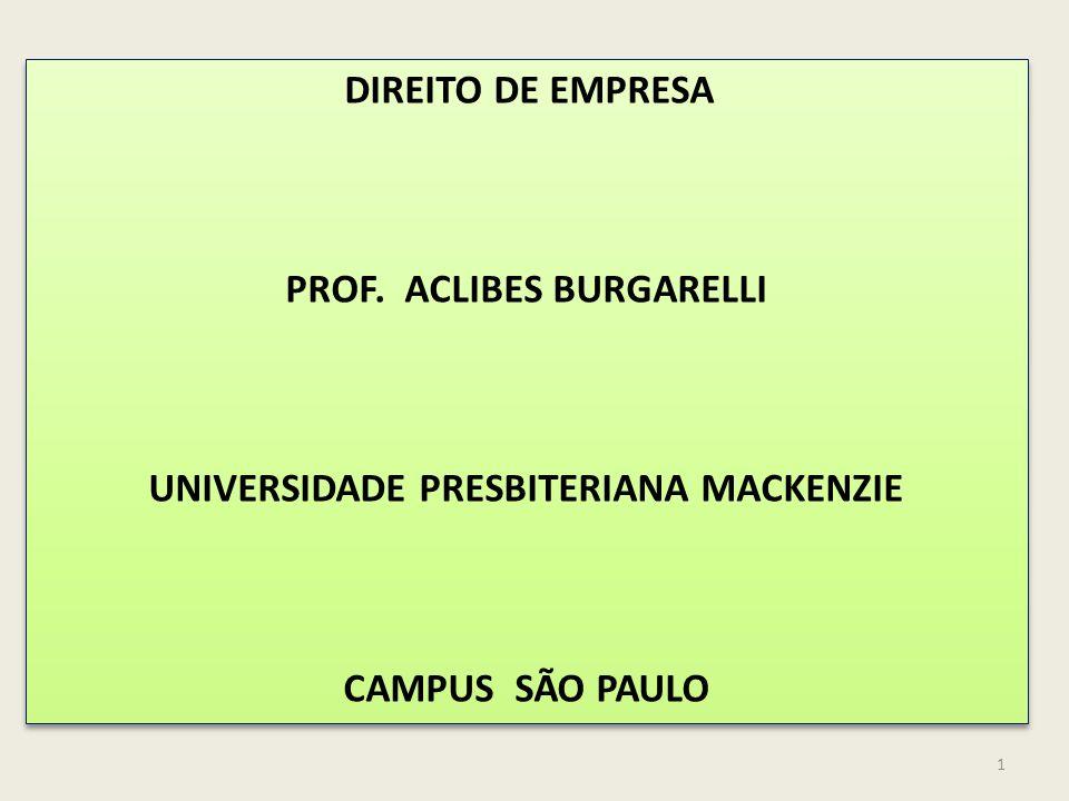 1 DIREITO DE EMPRESA PROF.