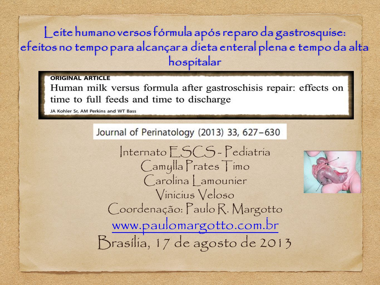 Introdução Gastrosquise é um defeito congênito da parede abdominal ventral.