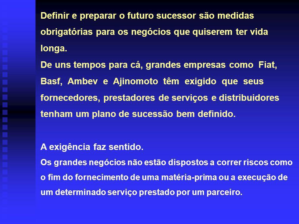 A FORMAÇÃO PROFISSIONAL DO SUCESSOR E O SISTEMA DE GESTÃO DA EMPRESA.