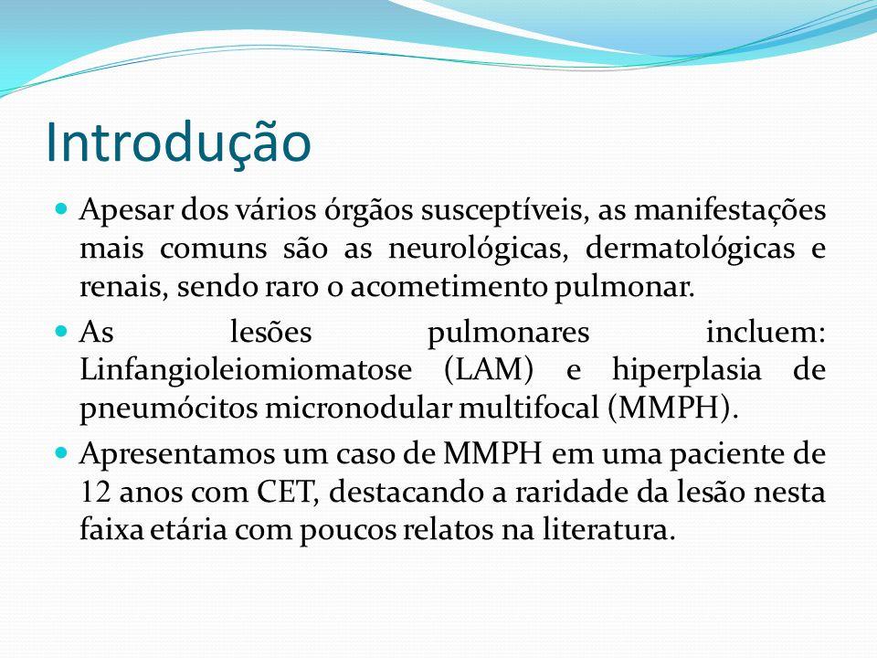 Descrição do caso Criança, gênero feminino, nascida de parto cesáreo, à termo, apresentou hipotensão nas primeiras 24 horas e não necessitou de O2 suplementar.