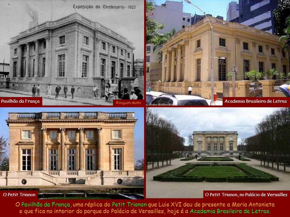 Já o Pavilhão de Administração e do Distrito Federal ainda existe e é o Museu da Imagem e do Som.