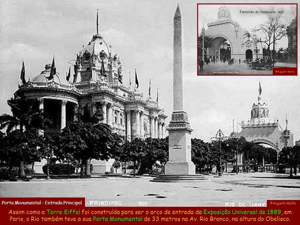 Isto aconteceu com a Exposição que comemorou o centenário da independência em 1922, a qual durou quase 7 meses e foi vista por mais de 3 milhões de pessoas, um número considerável para a época.
