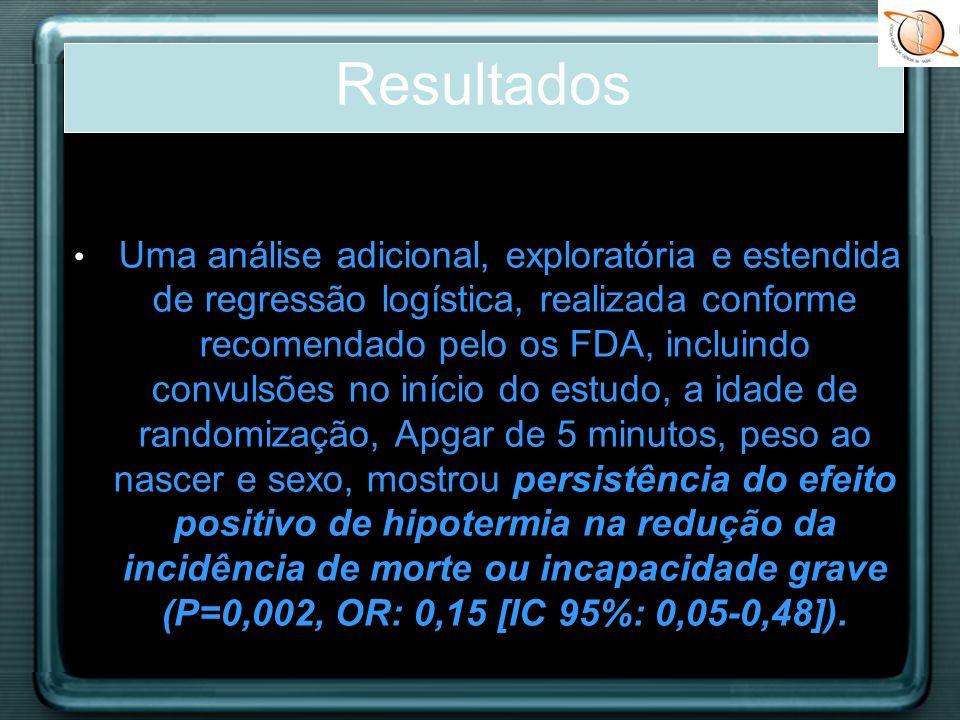 Uma análise adicional, exploratória e estendida de regressão logística, realizada conforme recomendado pelo os FDA, incluindo convulsões no início do