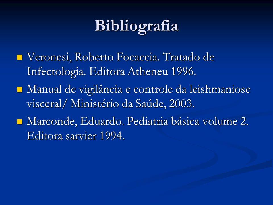 Bibliografia Veronesi, Roberto Focaccia. Tratado de Infectologia. Editora Atheneu 1996. Veronesi, Roberto Focaccia. Tratado de Infectologia. Editora A