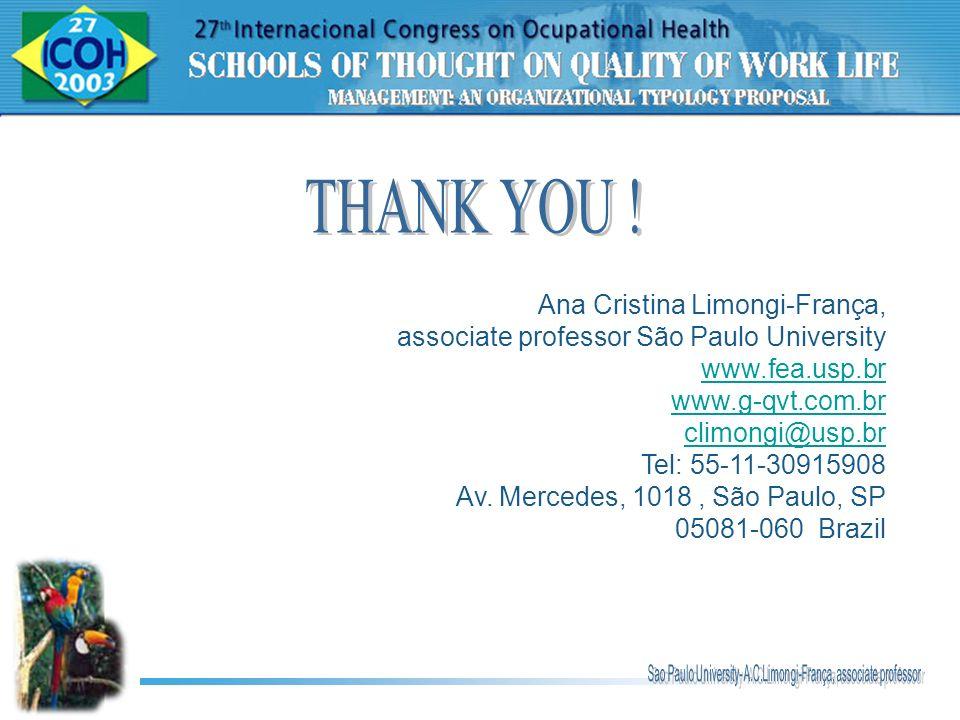 Ana Cristina Limongi-França, associate professor São Paulo University www.fea.usp.br www.g-qvt.com.br climongi@usp.br Tel: 55-11-30915908 Av. Mercedes