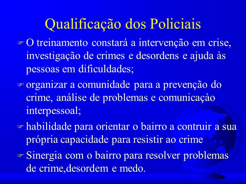 Ao Policial de bairro serão dirigidas a responsabilidade de achar soluções para as causas subjacentes do problema.