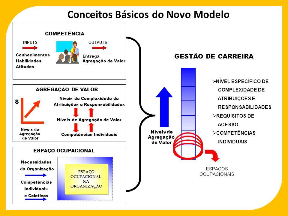 ESPAÇO OCUPACIONAL NA ORGANIZAÇÃO ESPAÇO OCUPACIONAL NA ORGANIZAÇÃO GESTÃO DE CARREIRA Níveis de Agregação de Valor NÍVEL ESPECÍFICO DE COMPLEXIDADE D