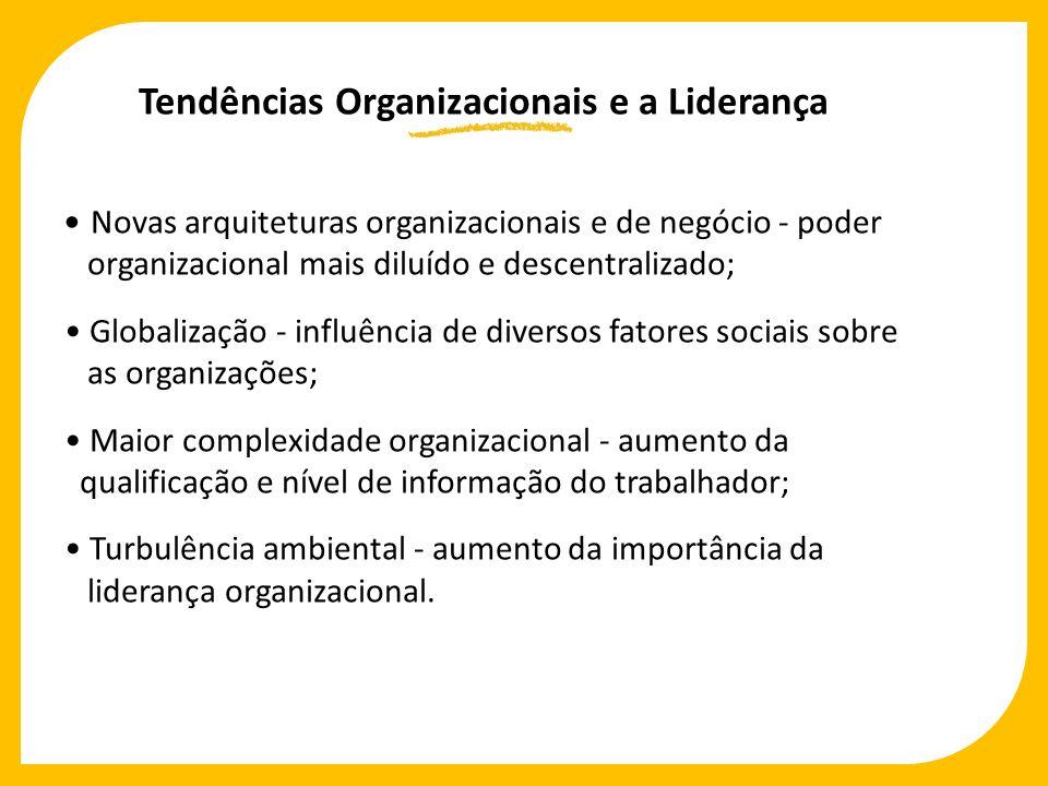 Novas arquiteturas organizacionais e de negócio - poder organizacional mais diluído e descentralizado; Globalização - influência de diversos fatores s