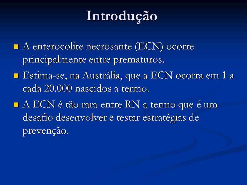 Introdução A enterocolite necrosante (ECN) ocorre principalmente entre prematuros. A enterocolite necrosante (ECN) ocorre principalmente entre prematu
