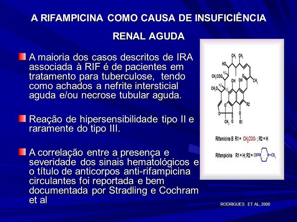 MONITORIZAÇÃO- REAÇÕES ADVERSAS As três drogas usadas como terapia de primeira linha podem causar injúria hepática. Pacientes recebendo etambutol deve