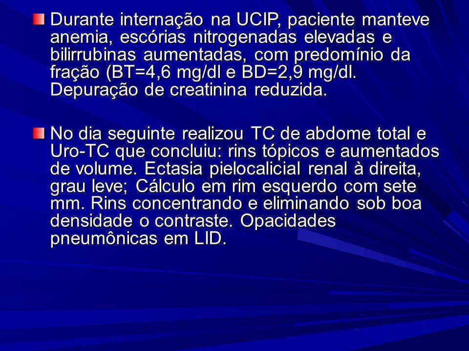 DUCATI ET AL, 2006 Dez dias após a alta, criança retorna ao Pronto- Socorro em REG, com quadro de febre, emagrecimento, vômitos após ingesta de rifamp