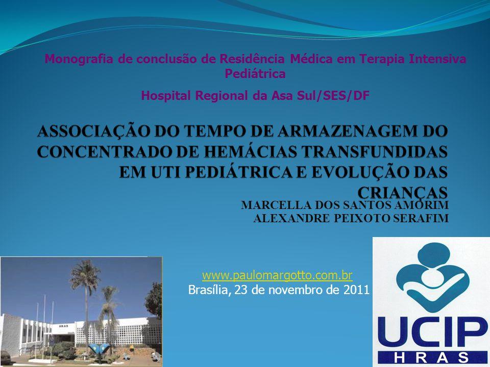 MARCELLA DOS SANTOS AMORIM ALEXANDRE PEIXOTO SERAFIM Monografia de conclusão de Residência Médica em Terapia Intensiva Pediátrica Hospital Regional da