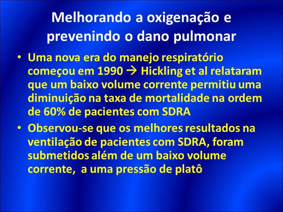 Uma nova era do manejo respiratório começou em 1990 Hickling et al relataram que um baixo volume corrente permitiu uma diminuição na taxa de mortalida