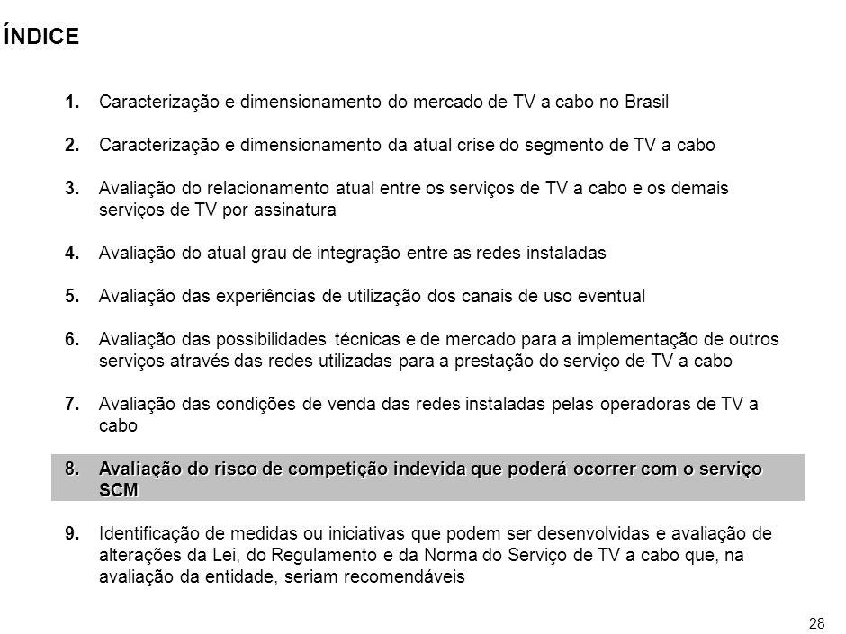 27 CONDIÇÕES DE VENDA DE REDES A venda das redes para empresas de telefonia poderia representar a viabilização da concorrência naquele setor atenuando o monopólio.