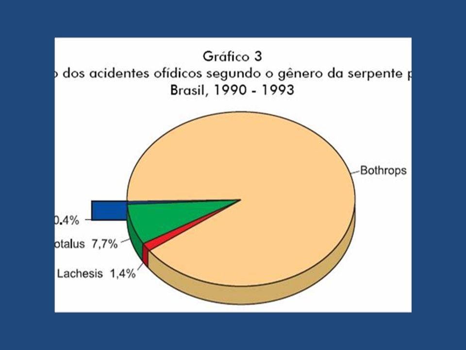 Distribuição das agressões por tipo de animal peçonhento - Distrito Federal - 2006.