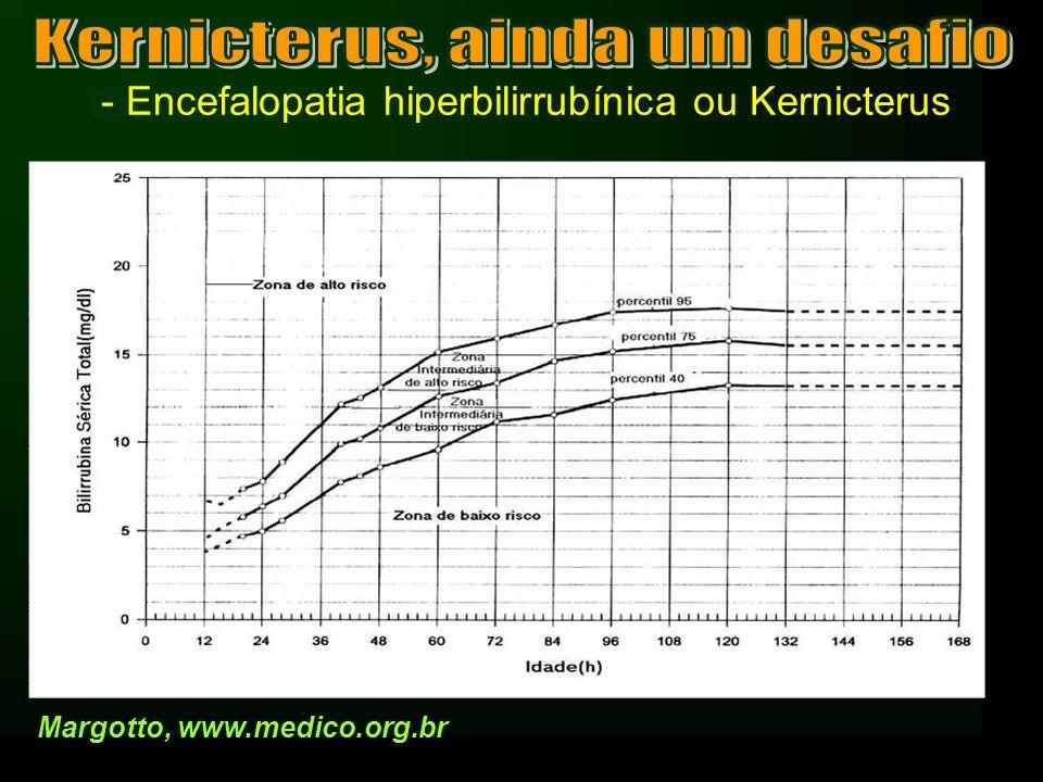 - Encefalopatia hiperbilirrubínica ou Kernicterus Margotto, www.medico.org.br