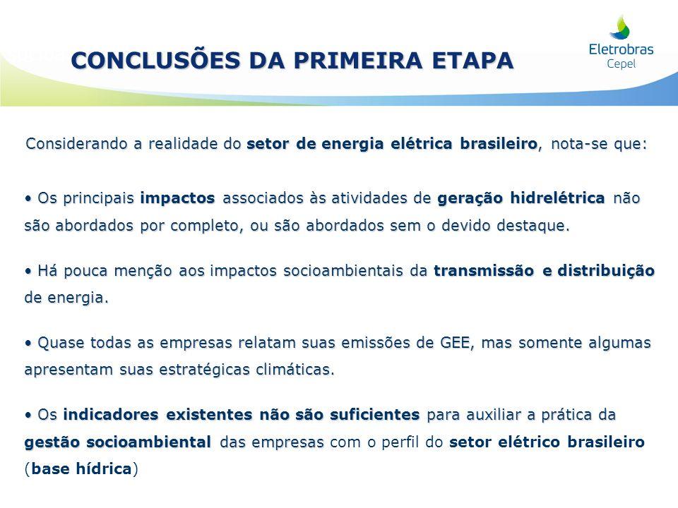 Considerando a realidade do setor de energia elétrica brasileiro, nota-se que: Os principais impactos associados às atividades de geração hidrelétrica