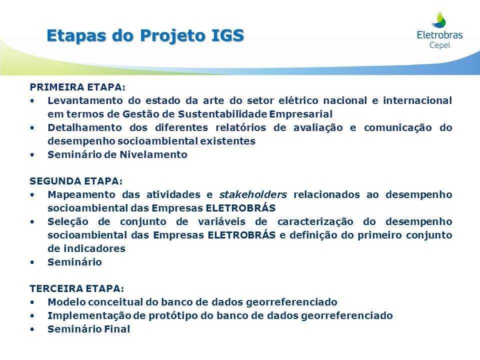 PRIMEIRA ETAPA: Levantamento do estado da arte do setor elétrico nacional e internacional em termos de Gestão de Sustentabilidade Empresarial Detalham