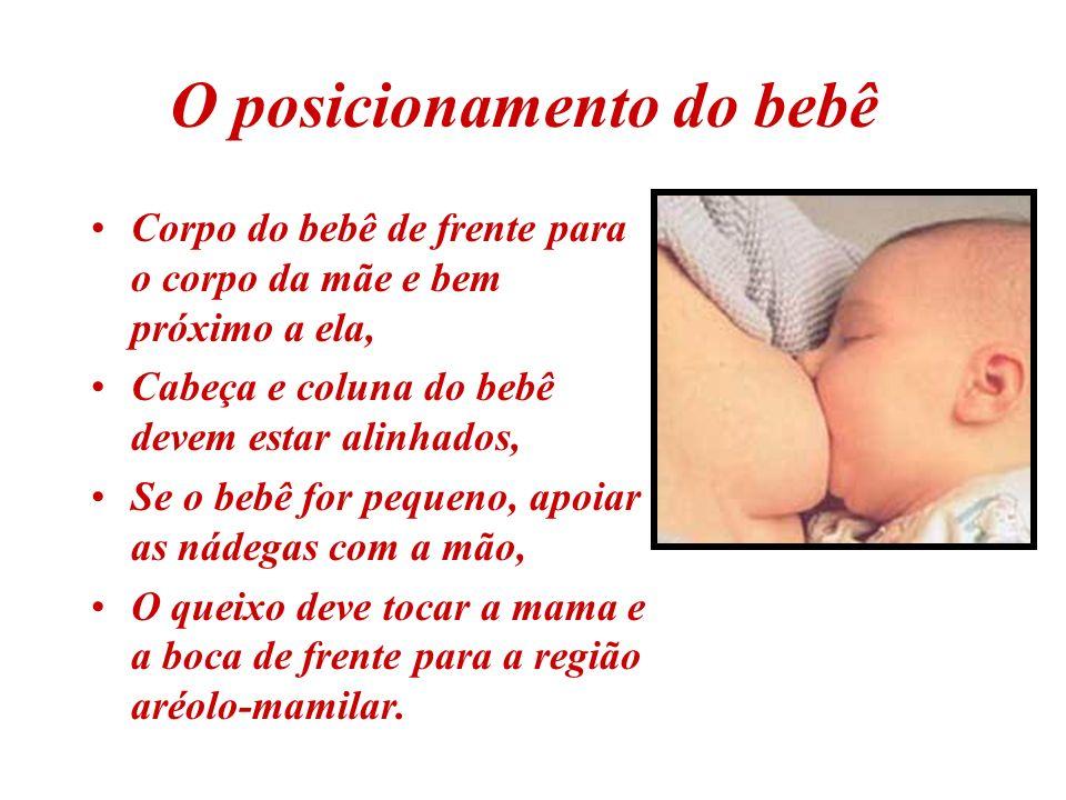 A mamadeira, a chupeta e a confusão de bicos Dificuldade para fazer uma pega adequada O bebê, confuso, modifica seu mecanismo de sucção Pode manter sua língua levantada para controlar o fluxo do leite da mamadeira e dificultar a pega da aréola.