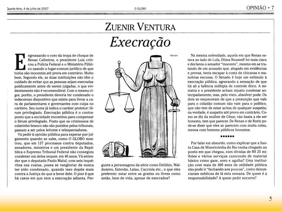 www.avozdocidadao.com.br Pois para o entendimento de alguns poucos, mas que influenciam muitos uma vez que têm acesso aos poucos espaços da mídia para o debate público, os culpados sempre são todos nós, menos os verdadeiros culpados.