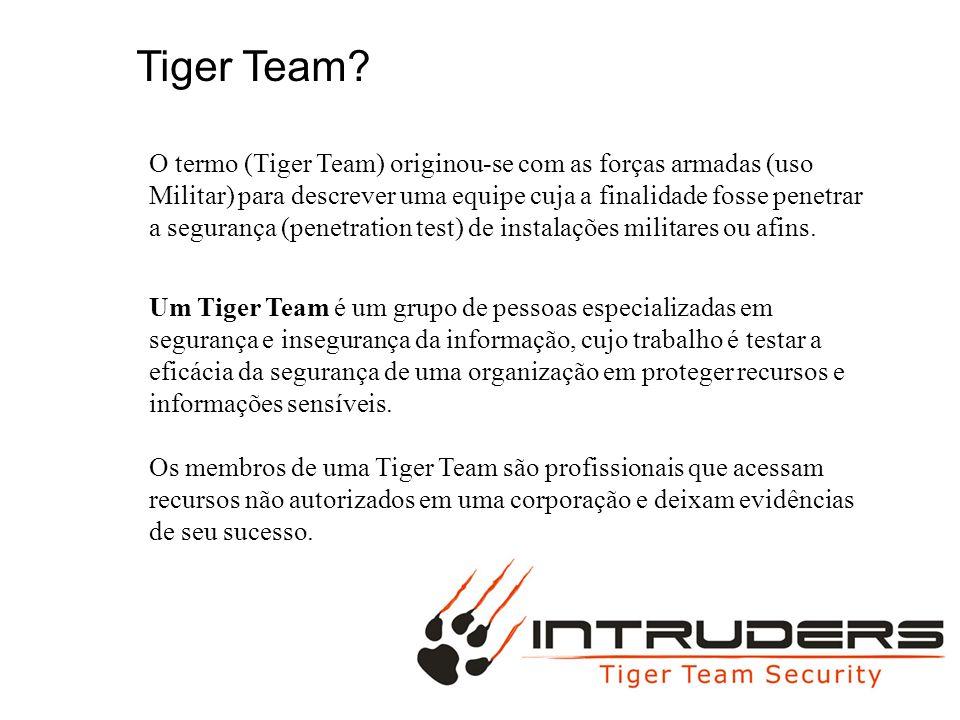 BIG MAC Mais tarde, o termo tornou-se popular na indústria de computadores, onde a segurança da informação é testada frequentemente por Tiger Team.
