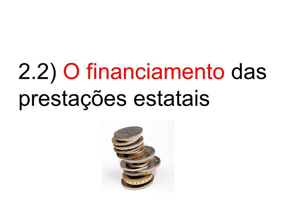 2.2) O financiamento das prestações estatais