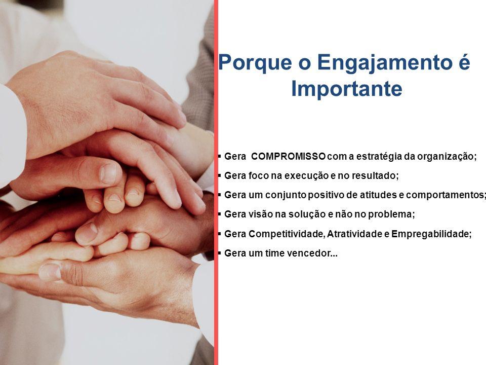 Impacto do Compromisso… Dois focos de Compromisso Resultados do Compromisso Engajamento & Retenção Desejo de Ficar Compromisso Racional Compromisso Emocional Dedicação e Esforço