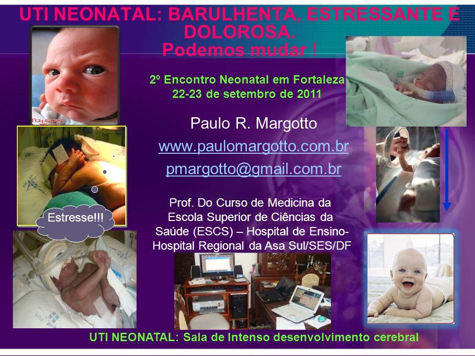 UTI NEONATAL: BARULHENTA, ESTRESSANTE E DOLOROSA. Podemos mudar ! Paulo R. Margotto www.paulomargotto.com.br pmargotto@gmail.com.br 2º Encontro Neonat