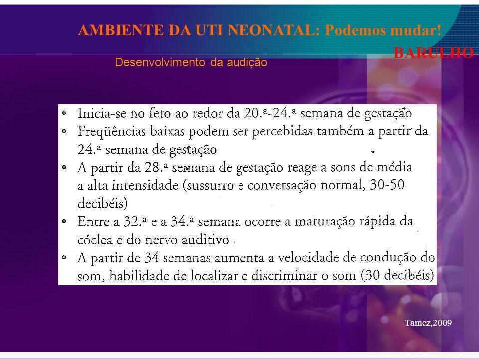 BARULHO Tamez,2009 Desenvolvimento da audição