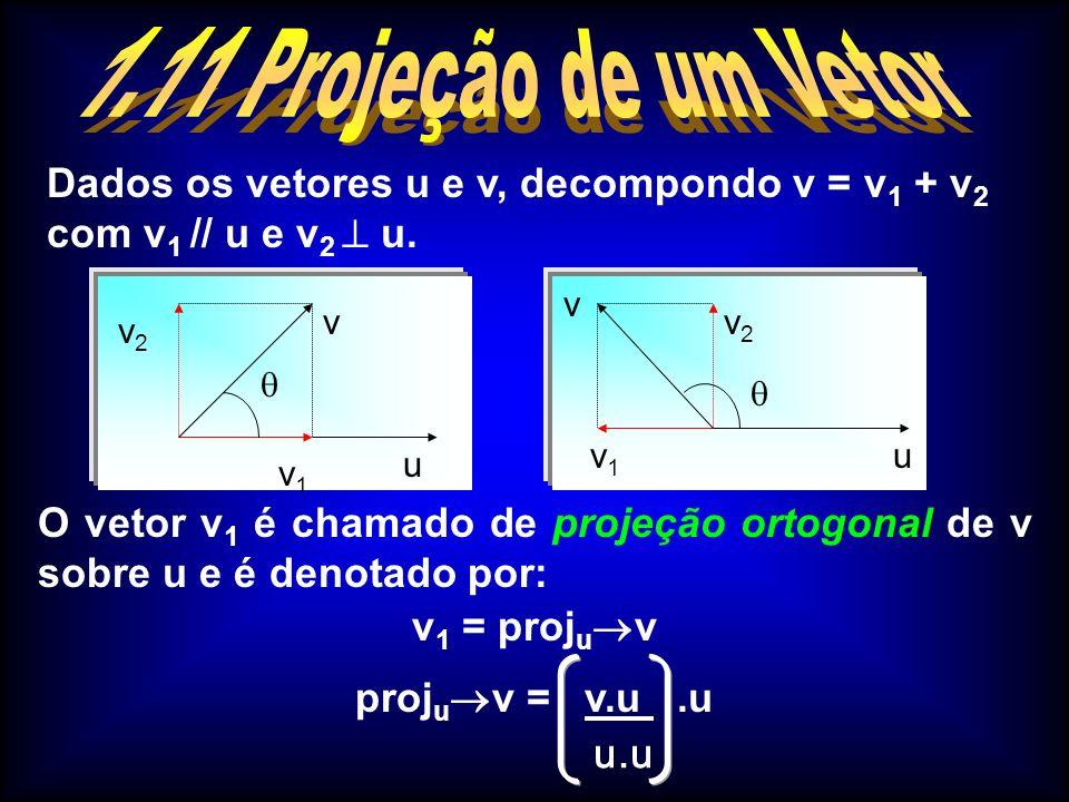 O produto vetorial ao contrário do produto escalar resulta em um vetor.